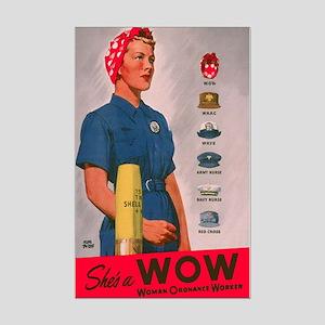 Women Ordinance Workers Mini Poster Print