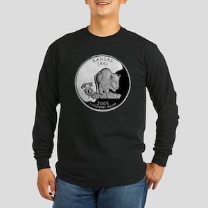 Kansas Quarter Long Sleeve Dark T-Shirt