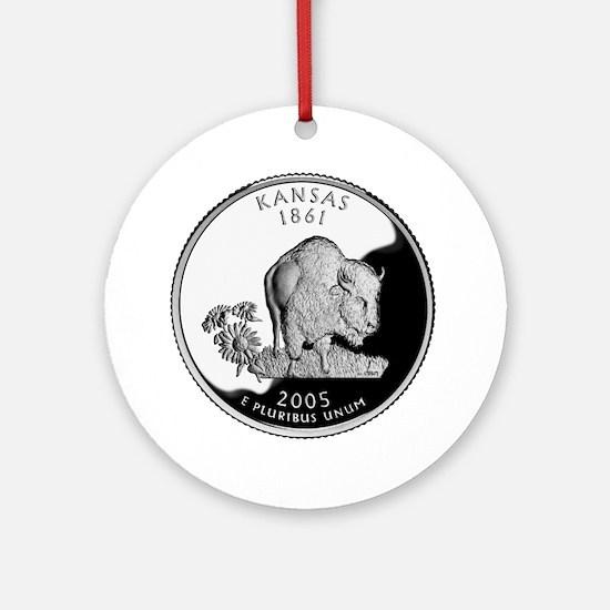 Kansas Quarter Ornament (Round)