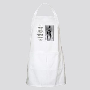 Sitting Bull Quote Apron
