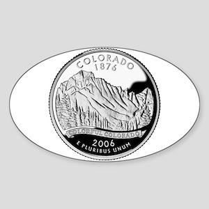 Colorado Quarter Oval Sticker