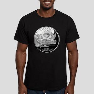 Arkansas Quarter Men's Fitted T-Shirt (dark)