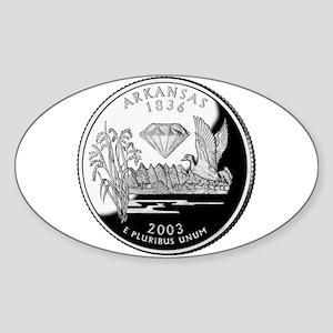 Arkansas Quarter Oval Sticker