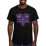 Men's Fitted Venezia T-Shirt Blk/Lavender