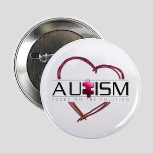 """Autism Heart 2.25"""" Button"""