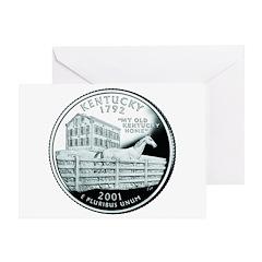 Kentucky Quarter Greeting Card