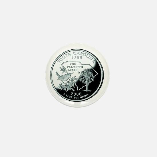 South Carolina Quarter Mini Button