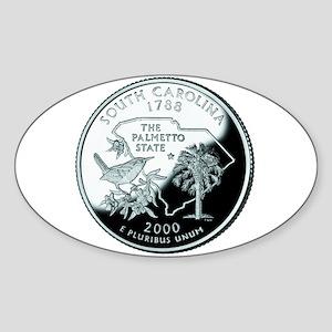 South Carolina Quarter Oval Sticker