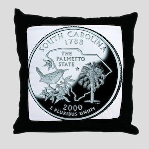 South Carolina Quarter Throw Pillow