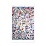 Stars and Stripes Angel Rectangle Sticker 10 pk)
