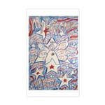Stars and Stripes Angel Rectangle Sticker