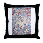 Stars and Stripes Angel Throw Pillow