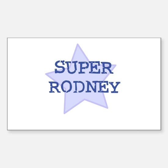 Super Rodney Rectangle Decal