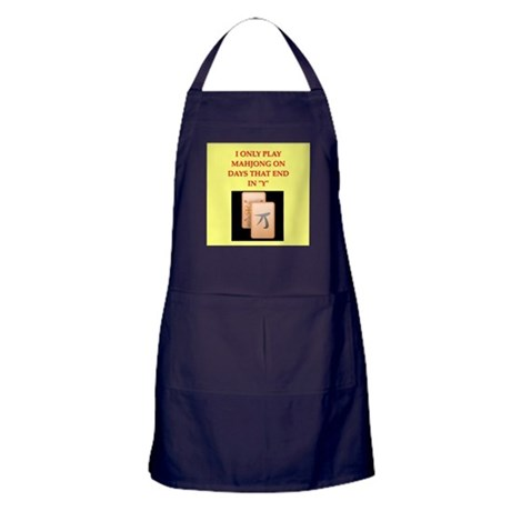 mahjong design Apron (dark)