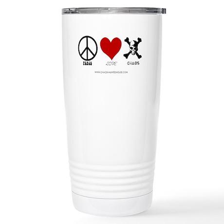Peace Love Chaos Stainless Steel Travel Mug