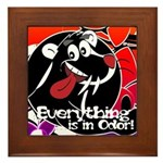 In Odor Skunk Framed Tile