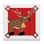 Christmas ReindeerTile Coaster