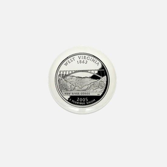 West Virginia Quarter Mini Button