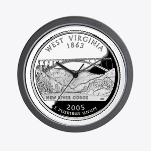 West Virginia Quarter Wall Clock