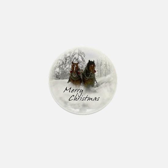 Cute Horse snow Mini Button