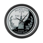 Maryland Quarter Large Wall Clock