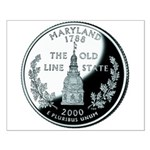 Maryland Quarter Small Poster