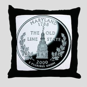 Maryland Quarter Throw Pillow