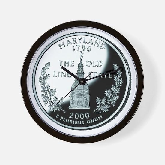 Maryland Quarter Wall Clock