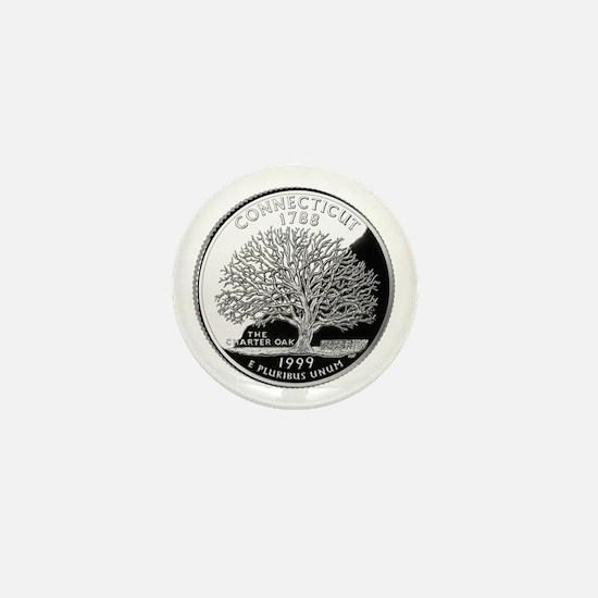 Connecticut Quarter Mini Button