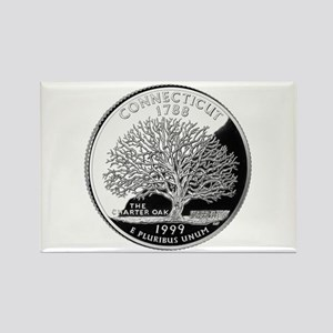 Connecticut Quarter Rectangle Magnet