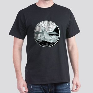 Rhode Island Quarter Dark T-Shirt