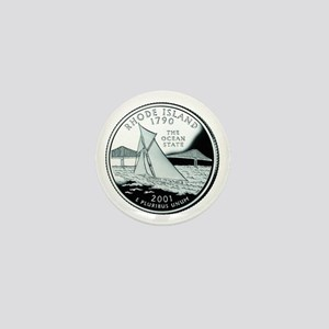Rhode Island Quarter Mini Button