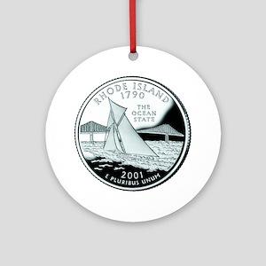 Rhode Island Quarter Ornament (Round)