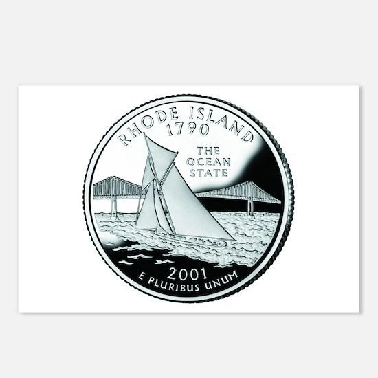 Rhode Island Quarter Postcards (Package of 8)