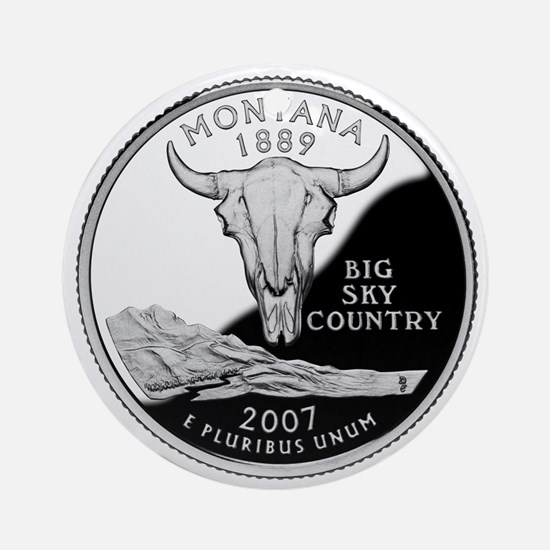 Montana Quarter Ornament (Round)