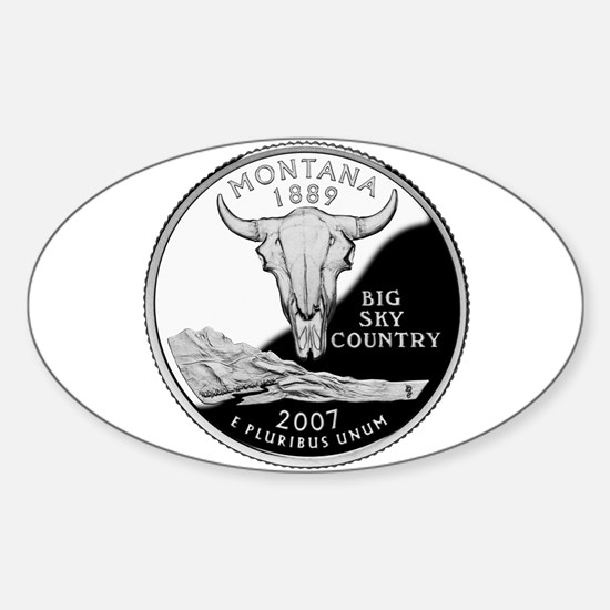 Montana Quarter Oval Decal