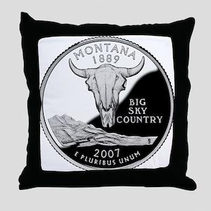 Montana Quarter Throw Pillow