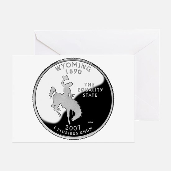 Wyoming Quarter Greeting Card
