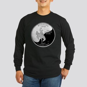 Wyoming Quarter Long Sleeve Dark T-Shirt