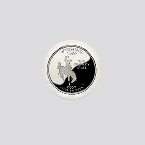 Wyoming Quarter Mini Button