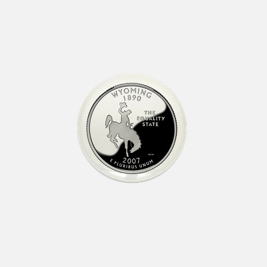 Wyoming Quarter Mini Button