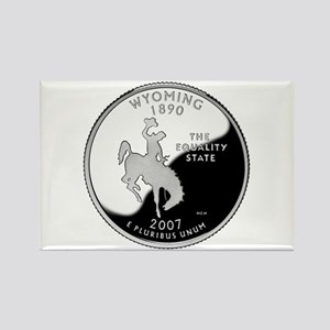 Wyoming Quarter Rectangle Magnet