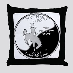 Wyoming Quarter Throw Pillow