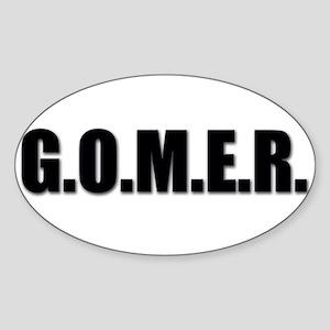 G.O.M.E.R. Oval Sticker