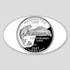 Washington Quarter Oval Sticker