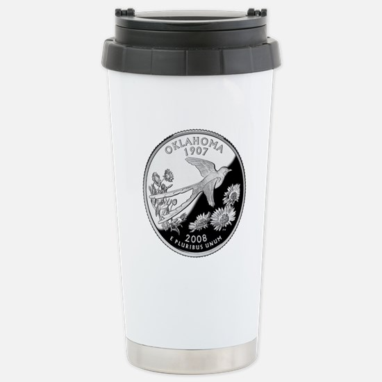 Oklahoma Quarter Stainless Steel Travel Mug