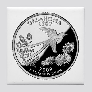 Oklahoma Quarter Tile Coaster