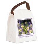 Colorado Blue Columbine Canvas Lunch Bag