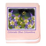 Colorado Blue Columbine baby blanket
