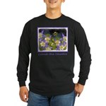 Colorado Blue Columbine Long Sleeve Dark T-Shirt
